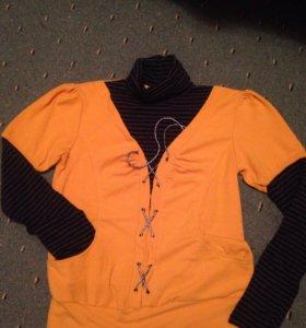 Блуза с фальшводолазкой