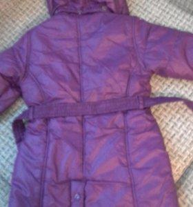 Прорезиненый комплект и пальто на девочку, 86-116