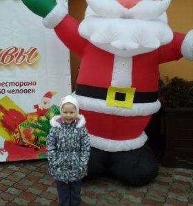 Куртка на девочку зимняя ,если худенькая р.116
