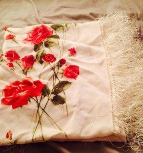 Павловопосадский платок . 100%шелк