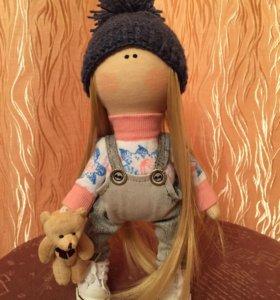 Интерьерная кукла малышка Энни