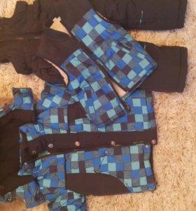 Комплект зимний: (комбинезон, жилет, куртка)