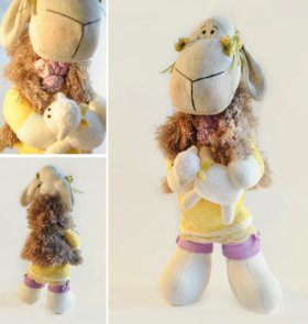 интерьерная кукла Овечка
