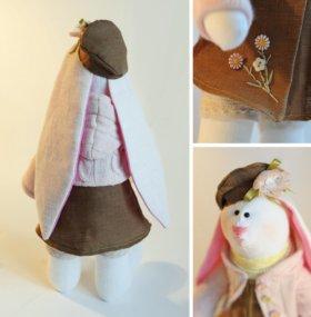 интерьерная кукла заяц тильда