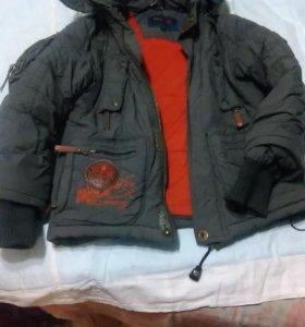 Куртка зима на 6-8лет