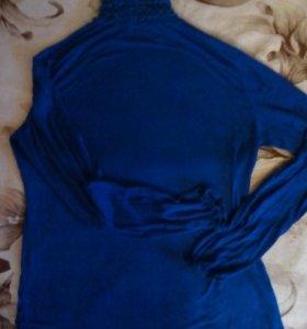Водолазка синяя