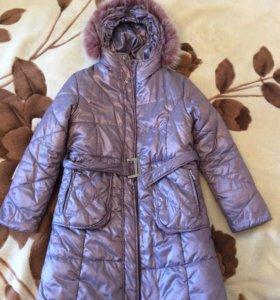 Пальто для девочки 134 р.
