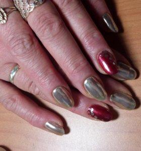 Наращивание ногтей,покрытие гель-лаком,маникюр