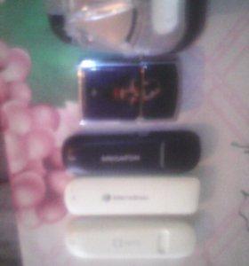 Зажигалка зиппо , лягушка и 3 модема мегафон и МТС
