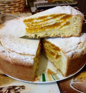 Пирог творожно-тыквенный на заказ
