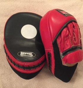 Лапы боксёрские REYVEL (кожа)