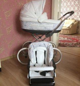 Детская коляска из экокожи
