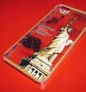 Пластиковый чехол Нью-Йорк на iphone 5/5S
