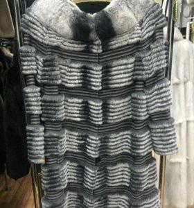Пальто из Рекса на кашемире