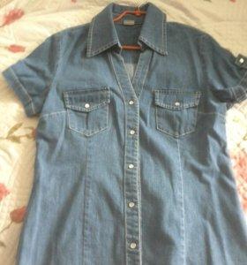 Рубашка джинсовая bonprix