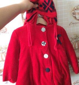 Пальто для девочки, на 2-2,5 года