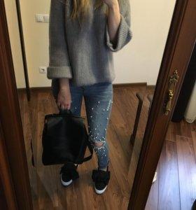 Пуловер свитер слипоны рюкзак