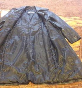 Куртка, пальто, Плащ кожаный