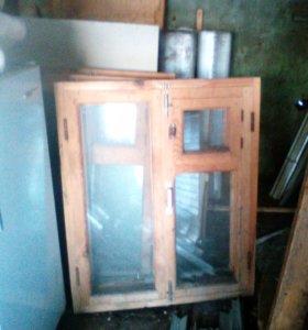 Окна деревянные (сосна)