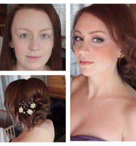 Прически макияж косы