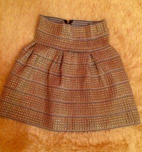 Нарядная красивая юбка на резинке