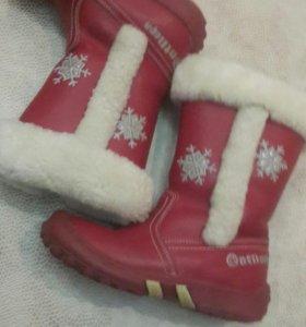 Зимние сапожки детские.