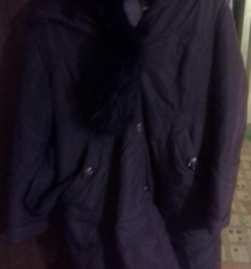 Женское зимнее пальто, размер 54