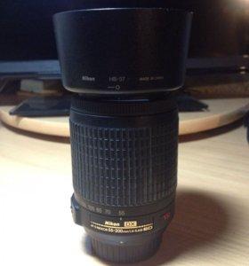 Nikon 55-200 zoom объектив