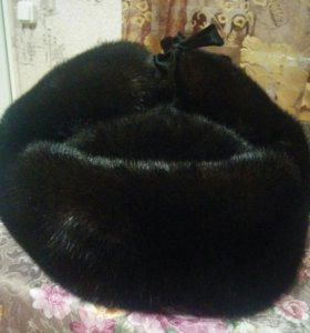 Шапка-ушанка норковая, мужская
