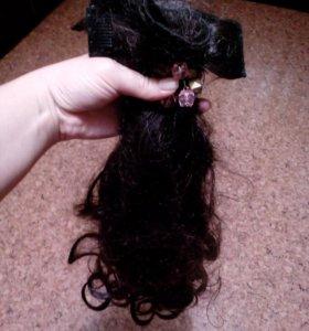 Волосы на зажимах