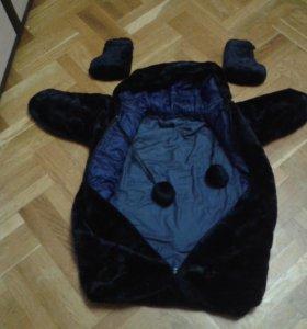 Зимний детский мешок