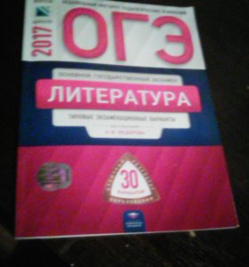 Книга ОГЭ по литературе 2017