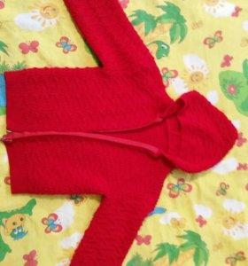 Теплая кофточка для девочки на 3-5 лет