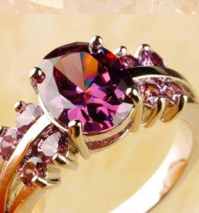 Кольцо с аметист