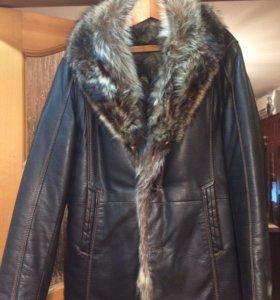 Куртка мужская с натуральным мехом