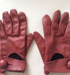 Перчатки кожаные размер s