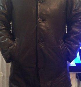 Куртка кожаная , натуральный мех