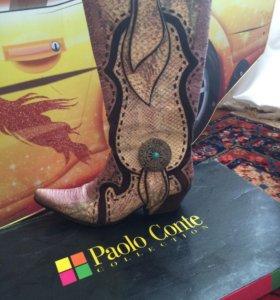 Сапоги натуральная кожа Paolo Conte
