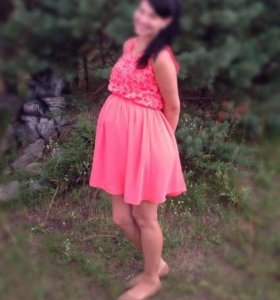Платье коралловый цвет красивое