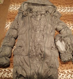 Пуховик для беременных,  слинго куртка