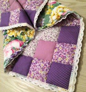 Лоскутное детское одеяло пэчворк конверт