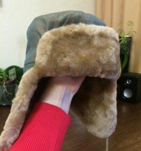 Детская шапка из натурального мутона