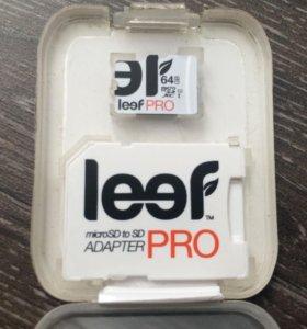 Micro SD 64gb. Leef pro