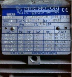 Асинхронный двигатель neri motori t100a4