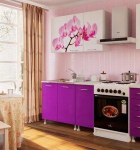 Кухня с фотопечатью Орхидея мдф