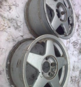 Литые диски от Ауди100 в 45 кузове r16