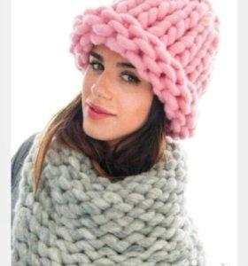 Тёплая, красивая шапочка