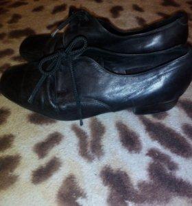 Туфли для занятий бальными танцами лаковые, кожанн