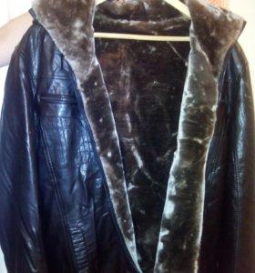 Куртка(экокожа) на меху