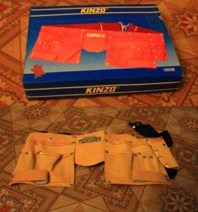 Кожаный пояс для инструментов KINZO